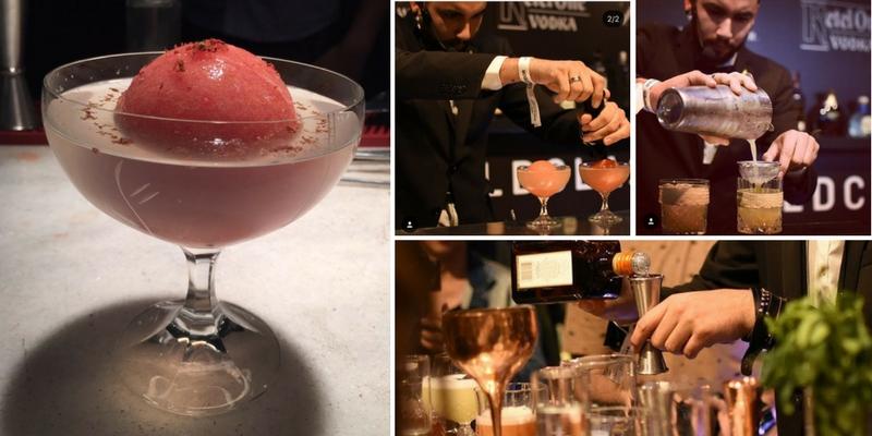 A la izquierda el Mars Blody Martini, un trago futurista. A la derecha los otros desempeños de Ocampos. Fotos obtenidas de las redes sociales.