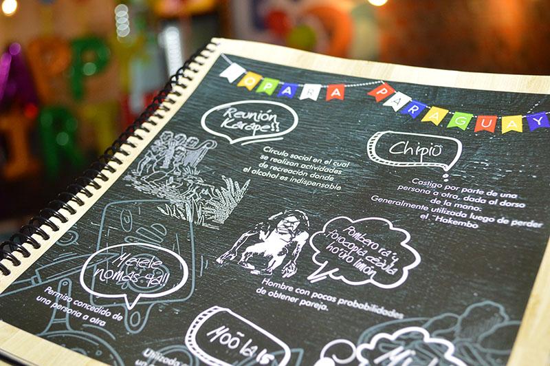 Detalles de la carta. Expresiones típicas paraguayas