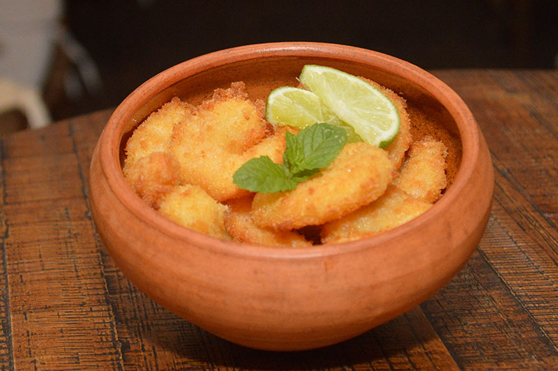Los camarones apanados es uno de los platos fuertes de Campeche.