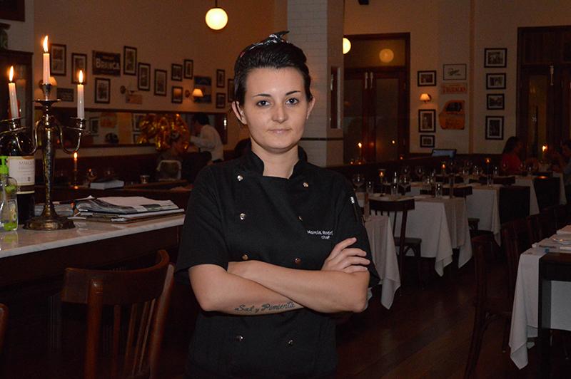 Marcia Rodríguez, chef ejecutivo de Novecento, argentina, natural de Mendoza. Hace 9 años que frecuenta el Paraguay.