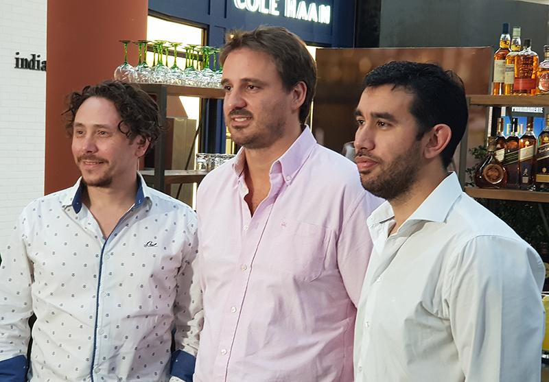 De izquierda a derecha Alvaro Pereira, Agustín Cebas y Carlos María Rodríguez, todos ellos de la empresa Diageo.