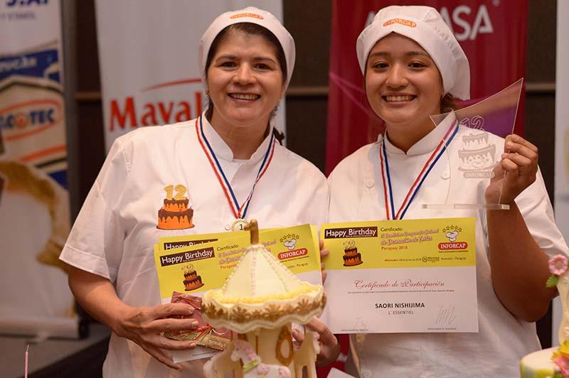Las ganadoras del Campeonato Nacional de Tortas.