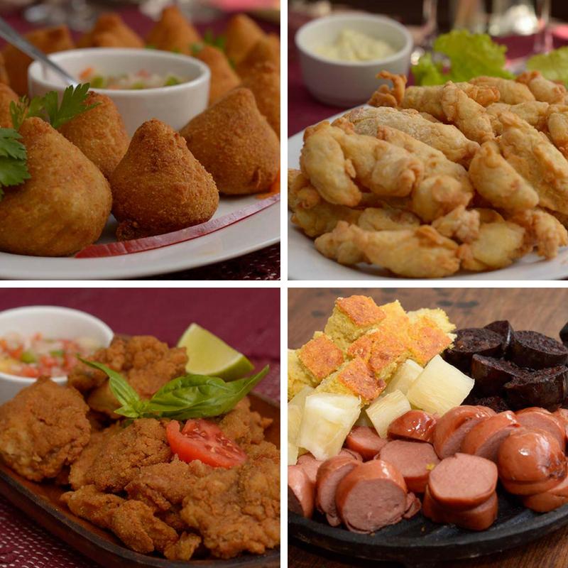 Coxinha de pollo, romanitas de surubí, milanesas y picadas de chorizos, morcillas, sopa paraguaya y mandioca son algunas de las opciones. Son complementos gastronómicos de la carta pero que tienen la misma calidad que los platos principales.