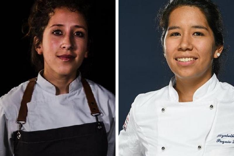 Marcia Taha (28), izquierda, boliviana y Elizabeth Landeo (27), peruana, están entre las mejores chefs jóvenes de Amérioca Latina.