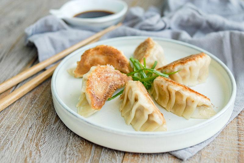 Gyoza, o empanadita japonesa. Uno de los platos que serán servidos en el gran festival japonés.