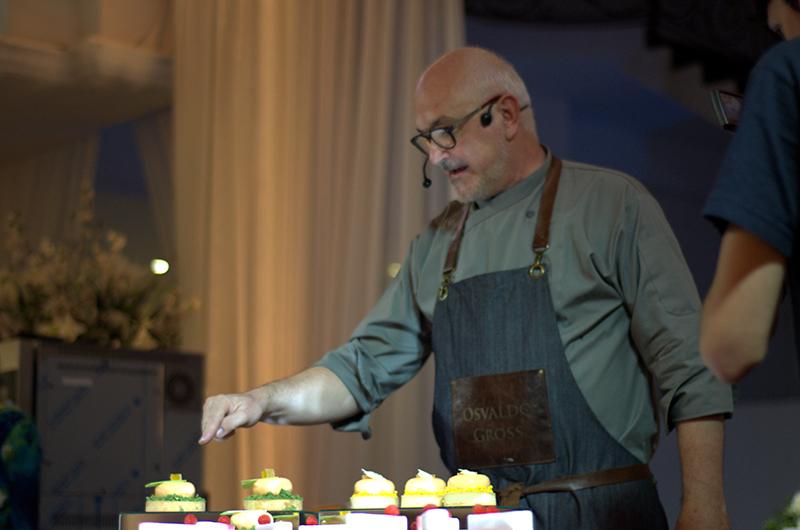 La principal estrella del encuentro fue el pastelero argentino Osvaldo Gross.