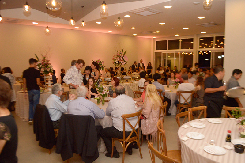 Vista general del nuevo salón de eventos, ubicado en la segunda planta del restaurante con capacidad para 150 personas.