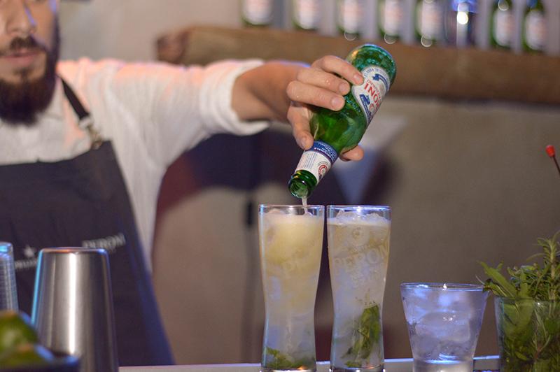 La cerveza Peroni aquí se luce en el Peroni Limone, otro de los tragos especiales de la marca.