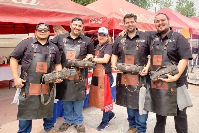 El otro equipo paraguayo participante, que se quedó con el tercer lugar. Aparecen Víctor Yegros, Luchef, Silvia Rizzi, Jorge Pedrozo y Beto Recalde.