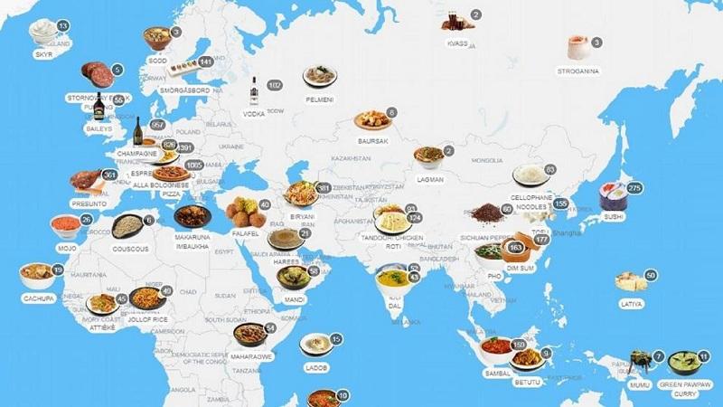 mapamundi gastronomico