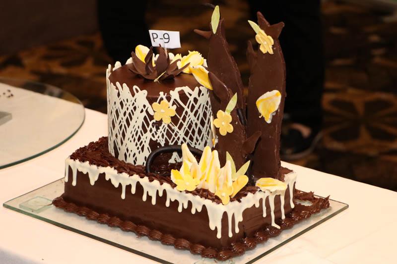 Esta es la torta ganadora del campeonato nacional de decoración.
