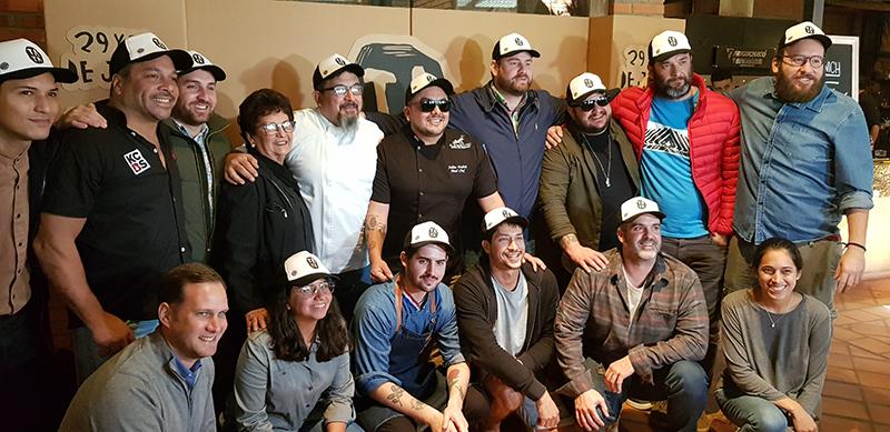 En la foto aparecen algunos de los que estarán presentes en la feria gastronómica Tata durante el lanzamiento del evento.