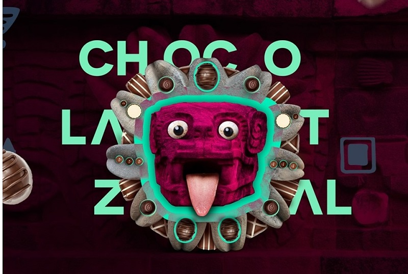 Este es el afiche oficial del Festival del Chocolate que se denomina Chocolatzal, teniendo en cuenta que ese producto es originario de México.