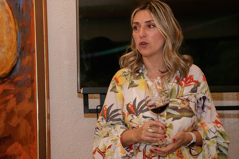 Fabiana Bracco Bosca, propietaria de una bodega en el Uruguay que presentó sus vinos en Paraguay.