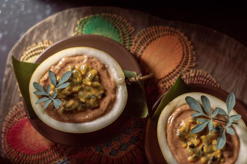 Esto es un Salmaracu, un plato inspirado en una receta española pero elaborado con ingredientes nacionales. La foto corresponde a José Galeano que recibió el primer premio.
